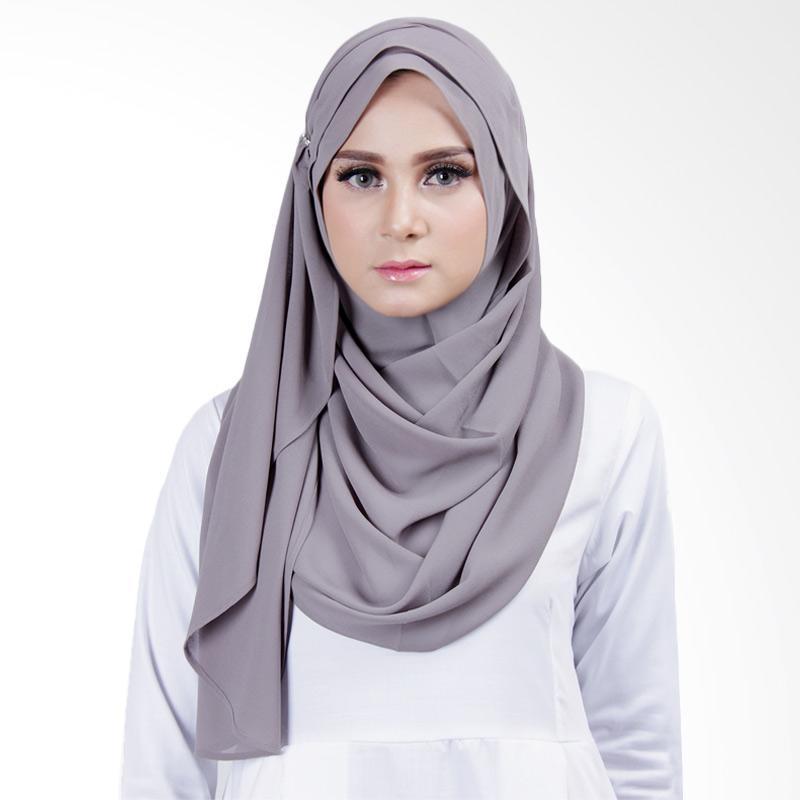 Cantik Kerudung Lizzie Slip In Jilbab Instant - Dark Grey
