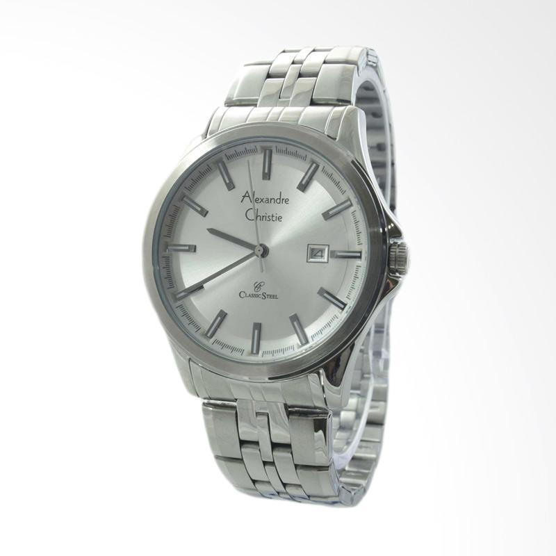 Alexandre Christie Stainless Steel Jam Tangan Pria - Silver 8402 MDBSSSL