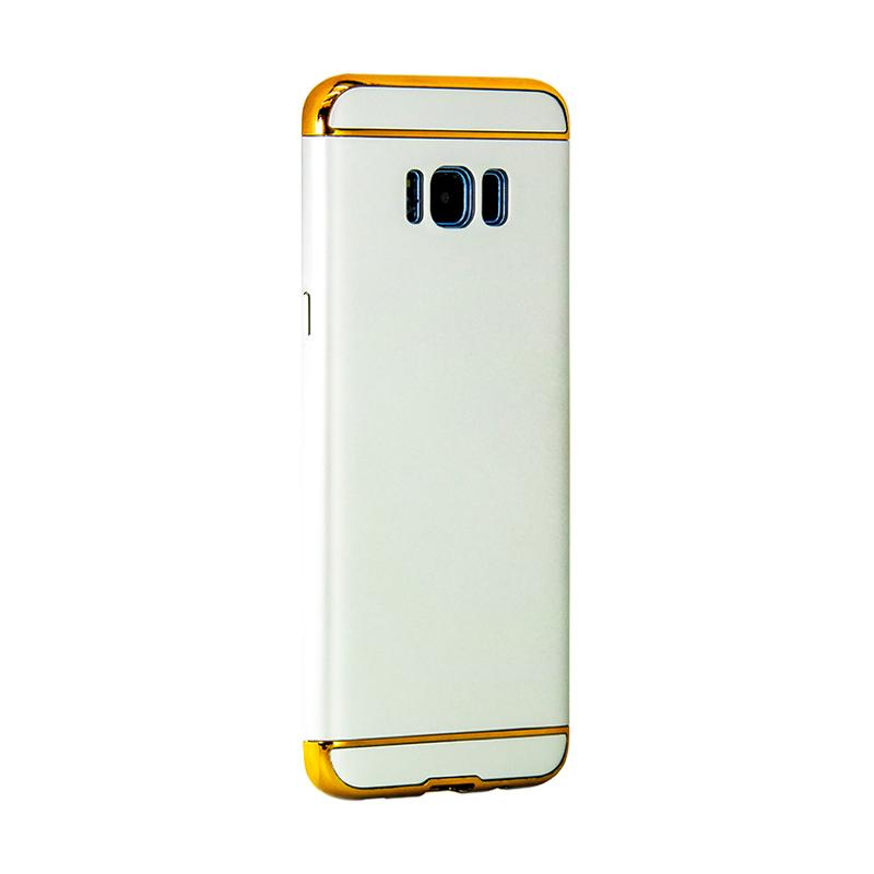 OEM Case 3 in 1 Plated PC Frame Bumper with Frosted Hardcase Casing for Samsung S8 - Silver