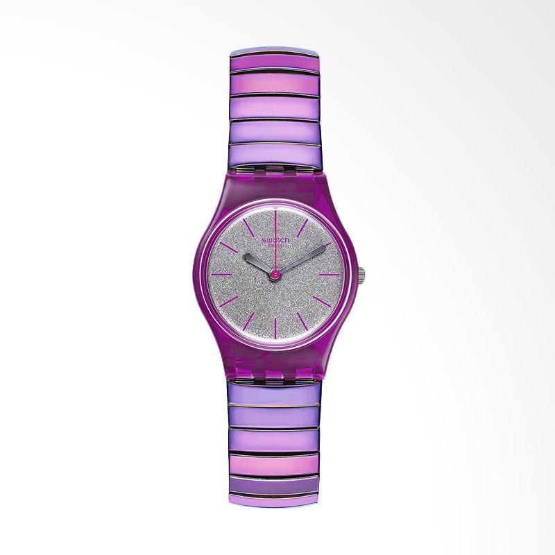 Swatch Flexipink L LP144A Bahan Tali Stainless Steel Jam Tangan Wanita - Purple