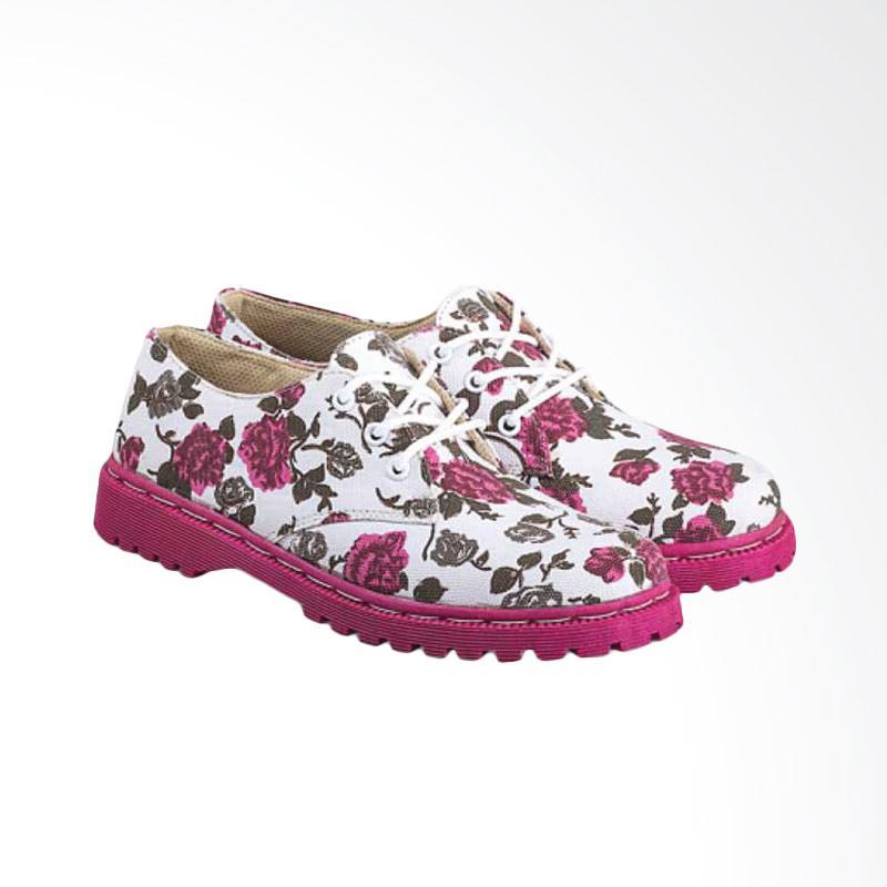 harga Everflow A100 Fashionable Canvas Women Docmart Boots - pink Blibli.com