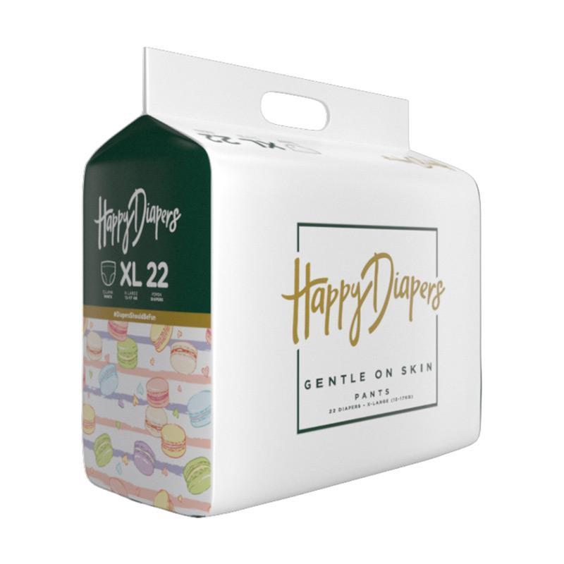 Happy Diapers Pant Popop Bayi - Macaroons [Size L- 22pcs]