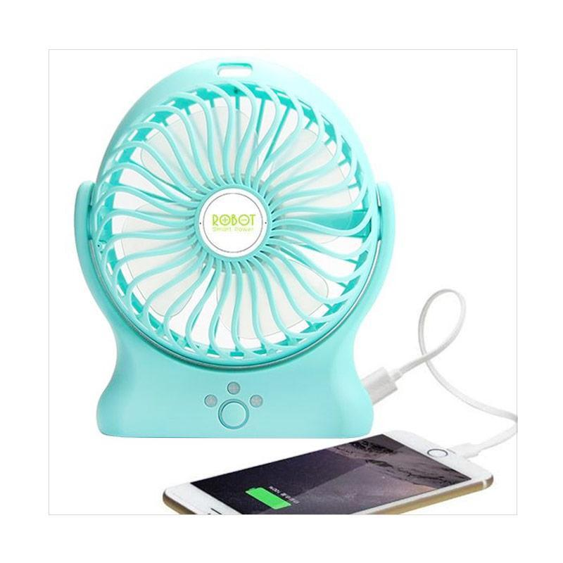 ROBOT RT-BF06 Powerbank with USB Mini Fan - Blue [2000 mAh]