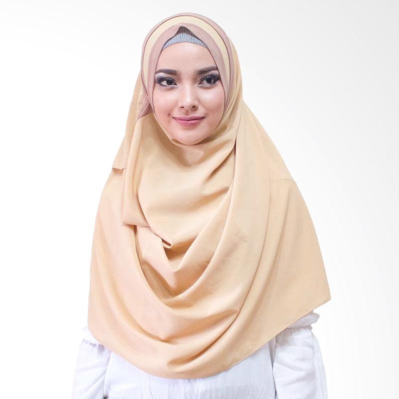 Milyarda Hijab Athaliali Hijab Instan - Coklat Susu
