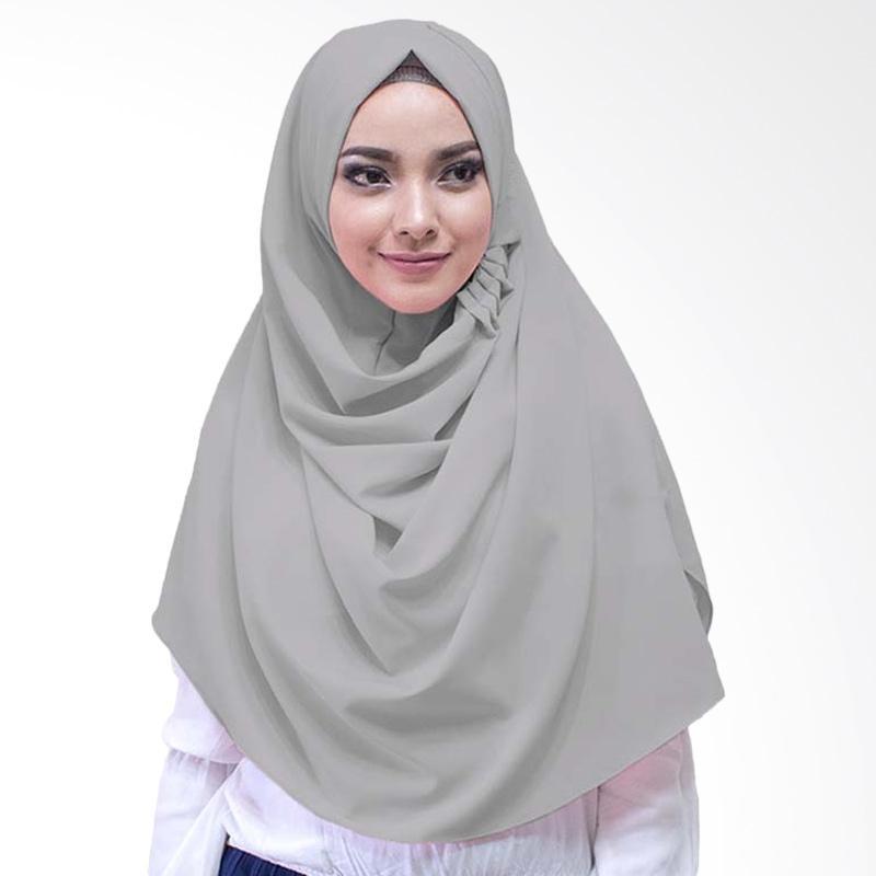 Milyarda Hijab LCB Laudya Jilbab Instan - Abu Tua