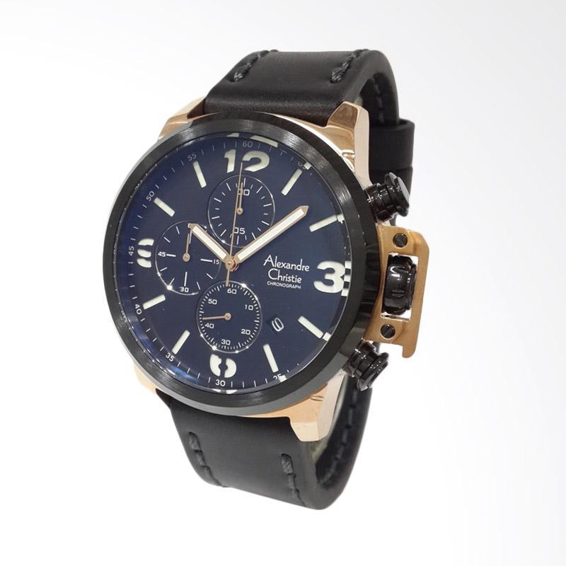 Jual Alexandre Christie Chronograph Jam Tangan Pria - Rose Gold 6280MCLBRBASL Online – Harga & Kualitas