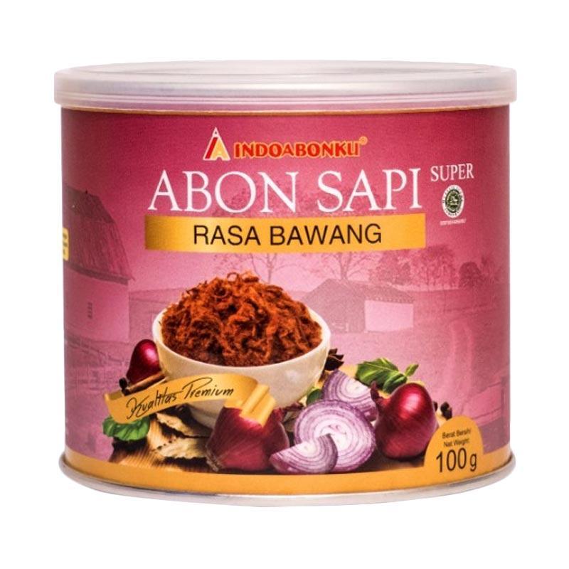 INDOABONKU Abon Sapi Super Rasa Bawang Makanan Kering [100 g]