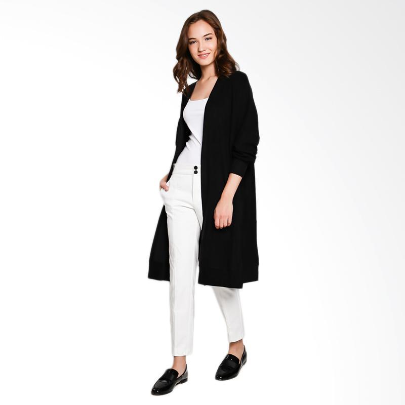 Papercut Fashion GZ 02 Shan Yue 9020 Basic Long Outerwear Wanita - Black