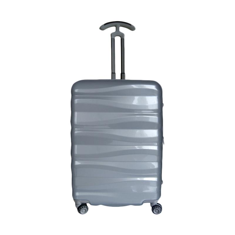 Traveler's Choice Edinburg Hardcase Koper - Silver [Medium/26 Inch]