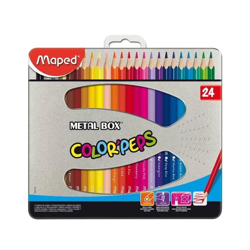 Maped Color Pep's Metal Box Set Pensil Warna [24 pcs]