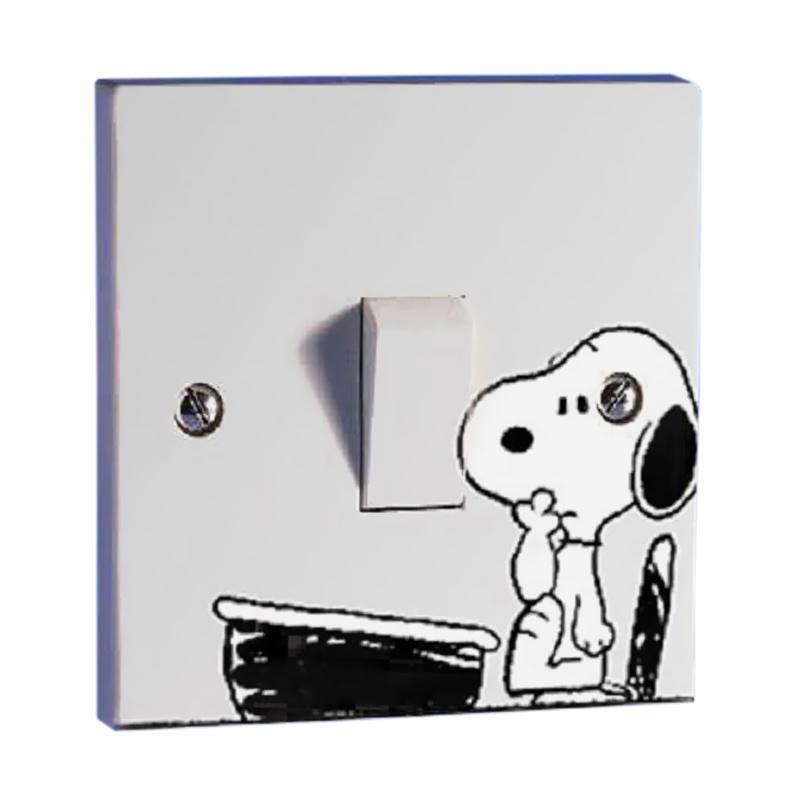 OEM Snoopy Dog Saklar Lampu Sticker