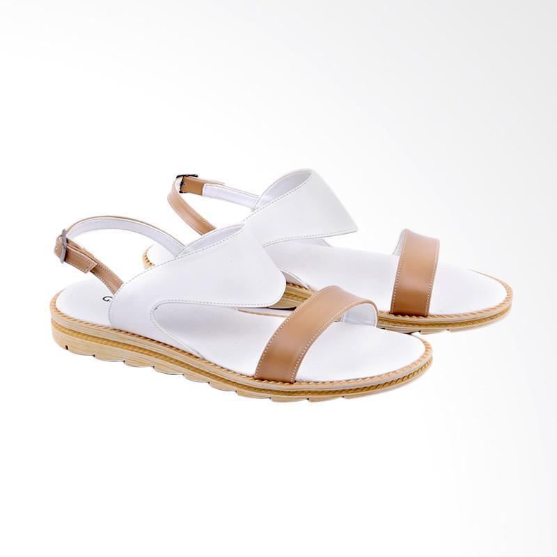 Garucci GIA 8126 Flats Sandal Wanita - White