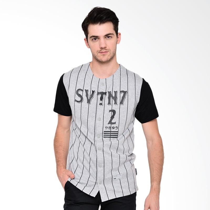 17seven Original Jersey 7 SVTN T-shirt Pria - Grey