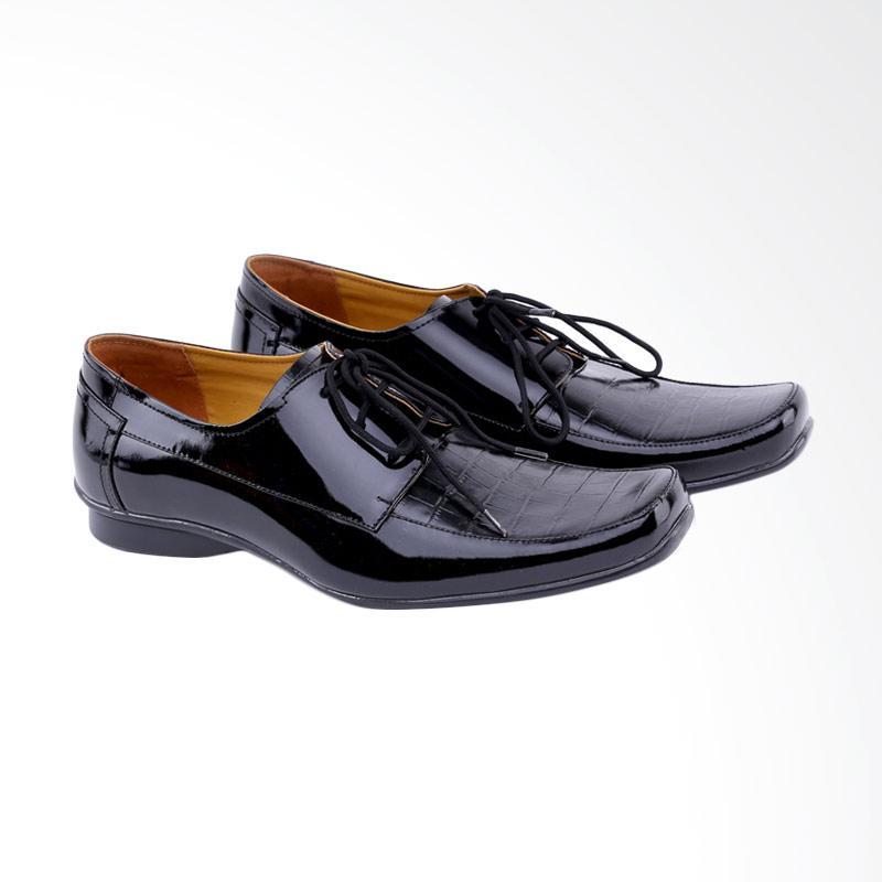 Garucci Formal Shoes Pria - Black GH 0383