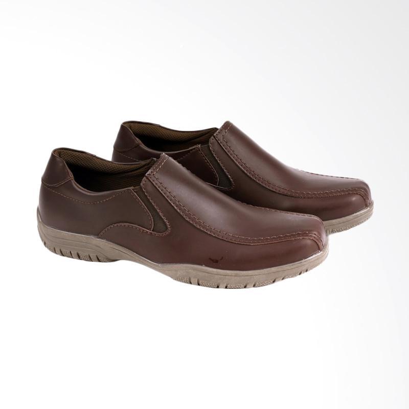 Garucci Formal Shoes Pria - Brown GSY 1101