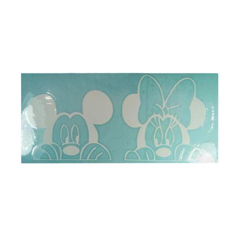 OEM Mickey Minnie Kaca Belakang Mobil Sticker Decal