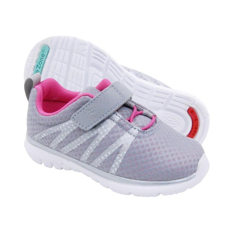 Toezone Kids Topher Nova Ch Flora Sepatu Anak Perempuan - Grey