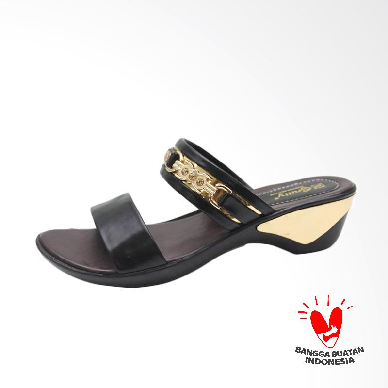 Grutty GR 82107 Sandal Wedges Wanita - Black
