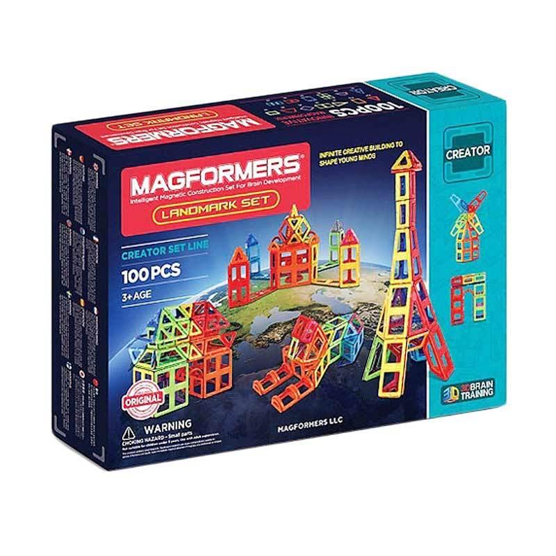 Magformers 113303 Landmark Set Mainan Edukasi