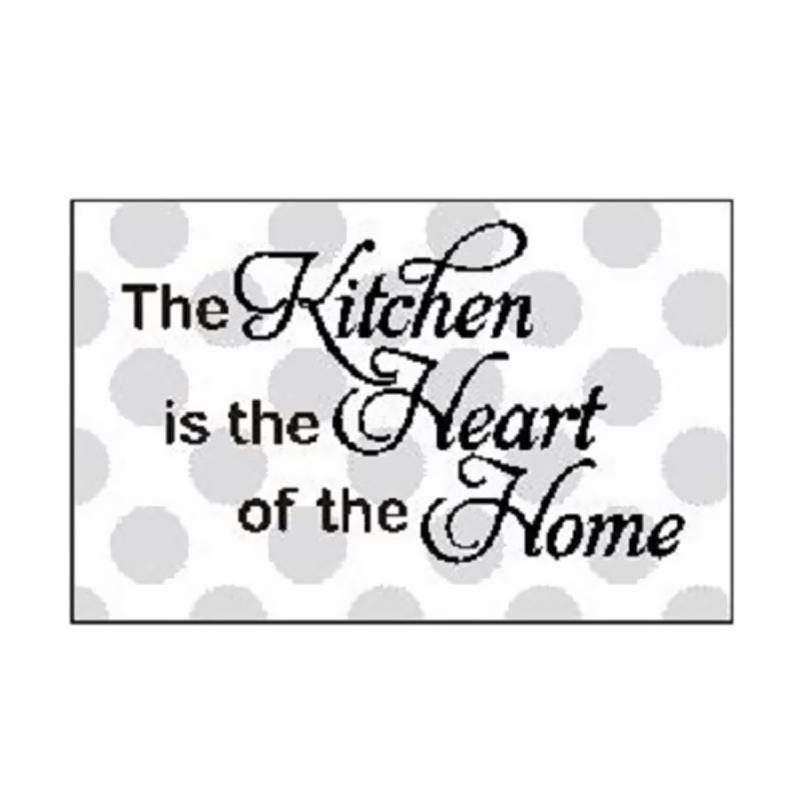 OEM Kitchen Heart Home Wall Sticker Dekorasi Dinding