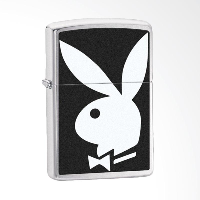Zippo Brush Chrome Playboy Lighter