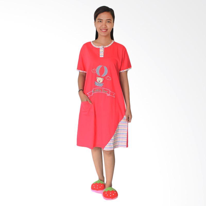 Aily 1059 Baby Doll Daster Wanita - Pink