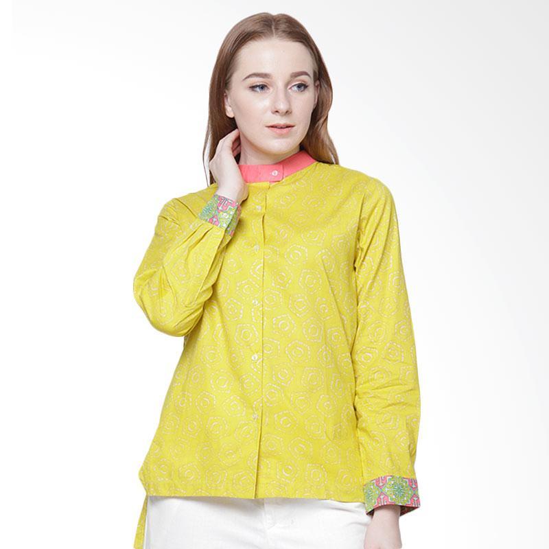 DAYS by Danarhadi Jumput Segi Warna Hi Lo Shirt Atasan Wanita - Yellow