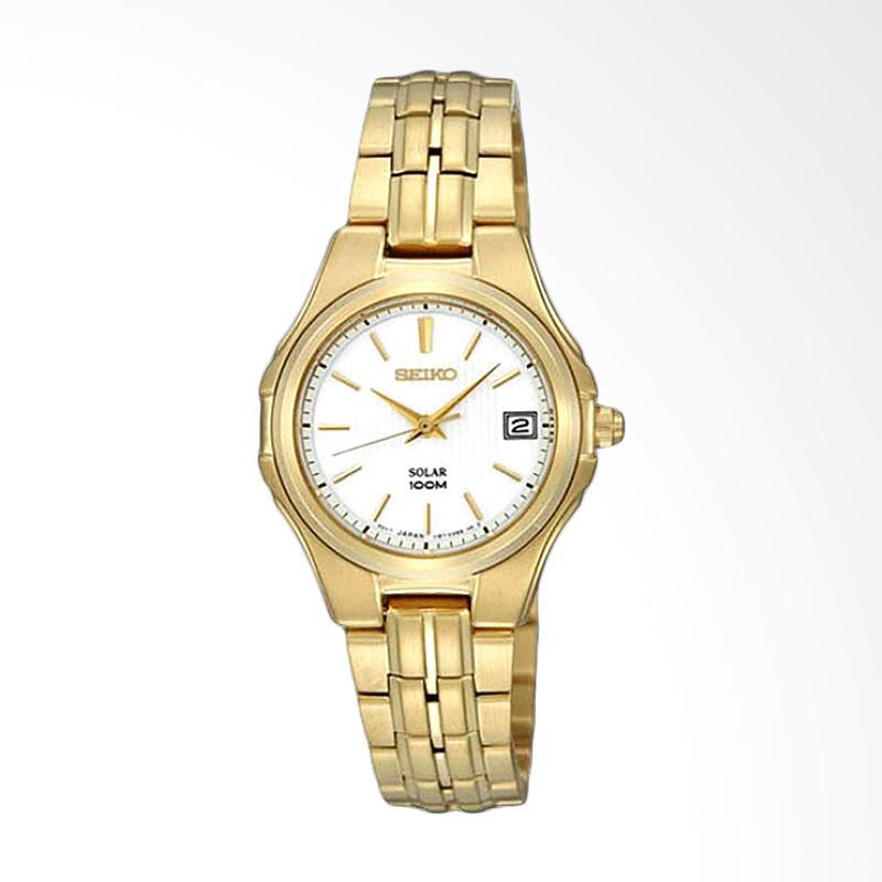 Seiko Solar SUT046P1 Jam Tangan Wanita - Gold