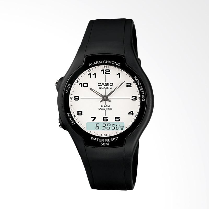 Casio Standard Jam Tangan Pria - Black AW-90H-7BVDF