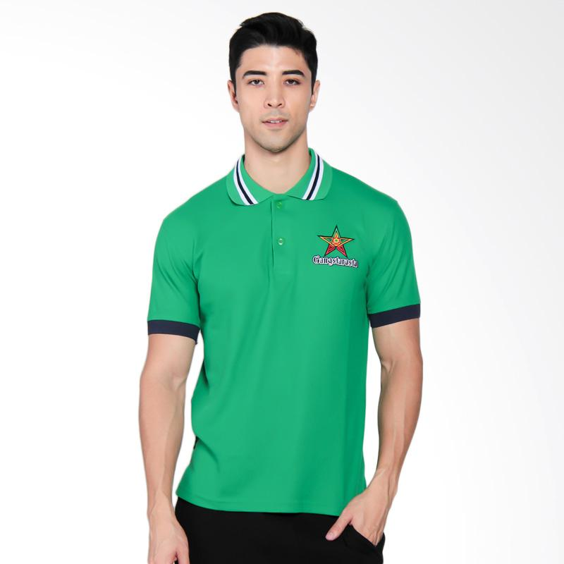 Gangstarasta Polo Shirt Pria - Hijau