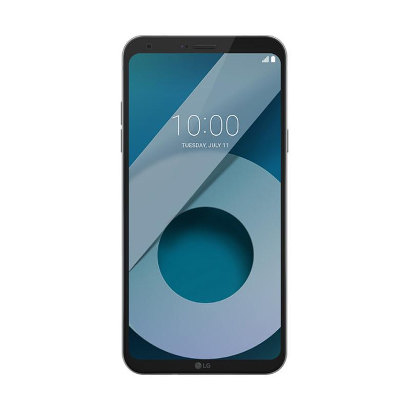 LG Q6 Plus Full Vision Smartphone - Ice Platinum - GARANSI RESMI LG INDONESIA