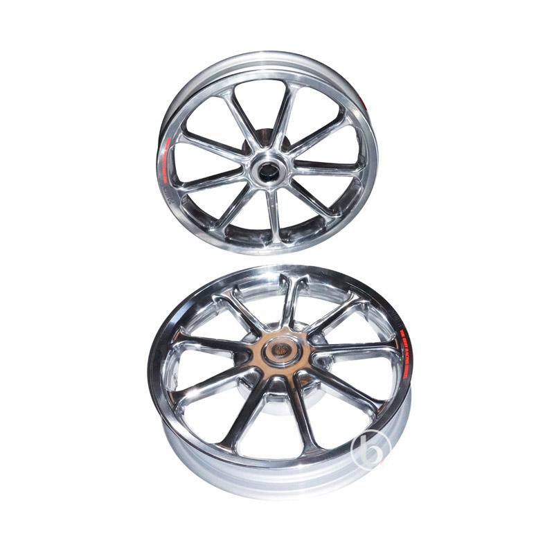 harga Power Sun Palang 9 Velg Racing Tapak Lebar for Honda Spacy - Chrome [14-215/250] Blibli.com