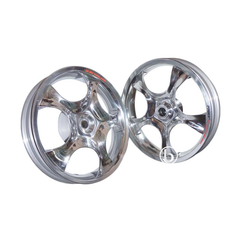 harga Power Rose Palang 5 Velg Racing Tapak Lebar for Honda Beat Karbu - Chrome [14-215/250] Blibli.com