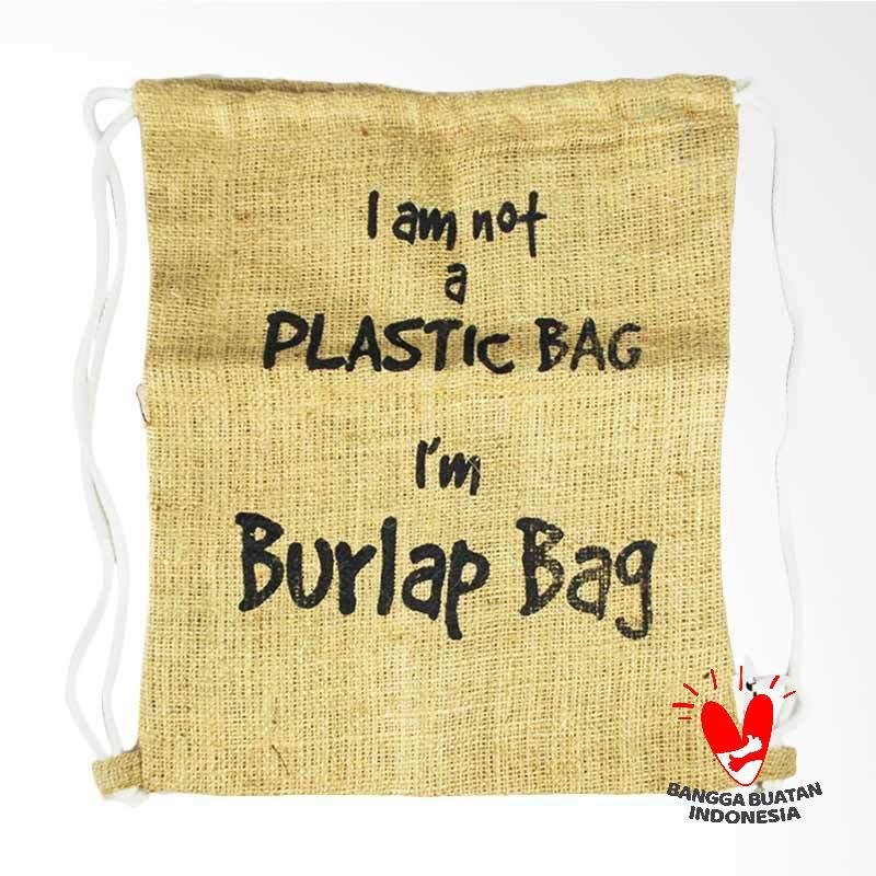 150 CM Backpack Burlap Bag Tas Pria - Brown
