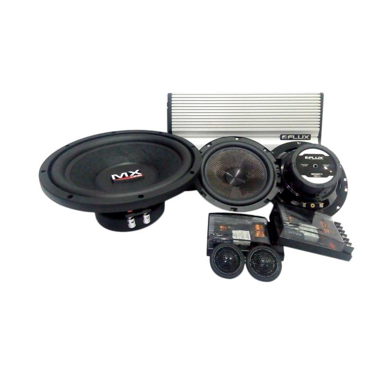 Flux BC 261 2 Way Paket Audio Speaker Mobil with Power and Subwoofer