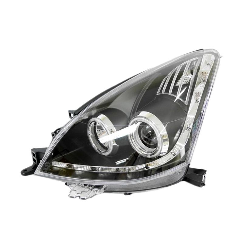 Eagle Eyes DS694-B7W2C-B2H Projector Headlamp for Nissan Livina 08-10 - Black Housing