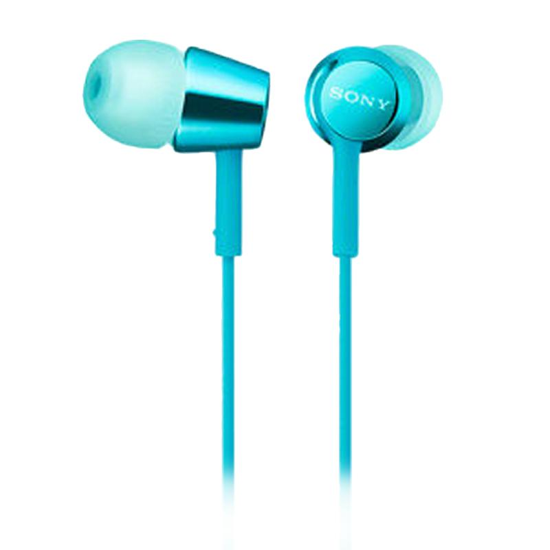 Sony EX155AP In-Ear Headphone - Biru Muda