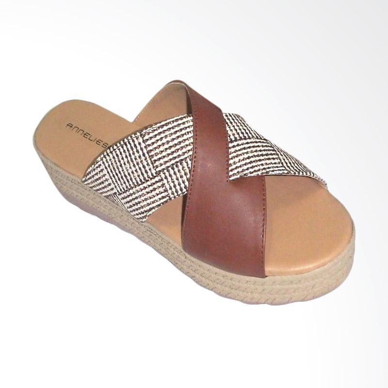 Anneliese sandal wedges wanita salma x brown