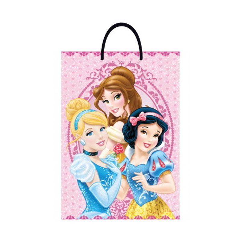 Something Sweet BA3346 PR001 3 Princess Cinderella Snow White and Bell Paper Bag - Pink [Jumbo]
