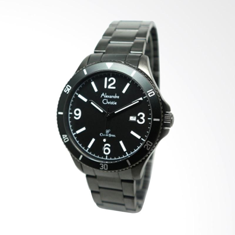 Alexandre Christie Man Jam Tangan Pria - Full Black 5011