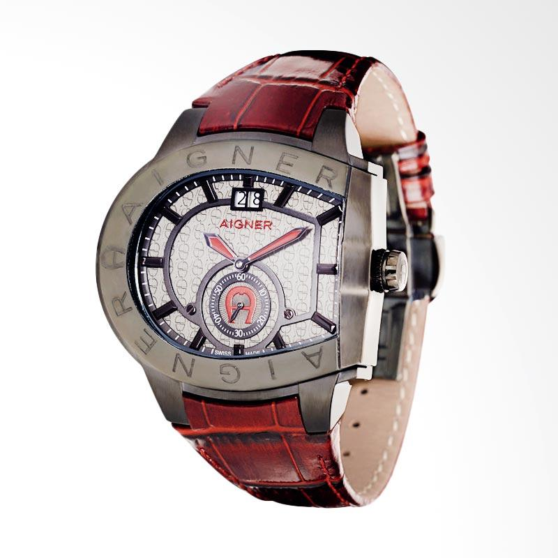 Aigner Grosseto Men Watches Jam Tangan Pria - Maroon AGA15119