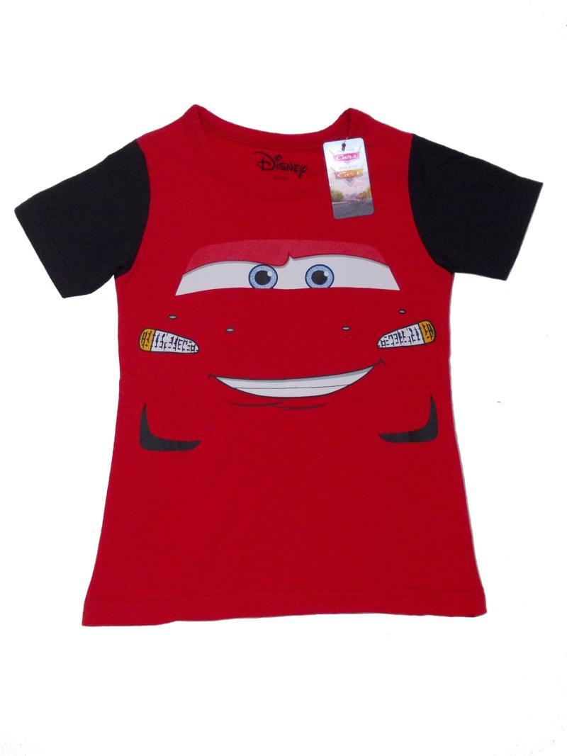 Disney Original T-Shirt Cars Baju Atasan Anak - Black Red