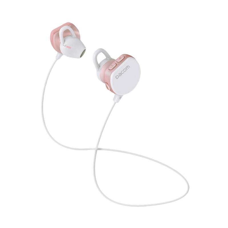 DACOM 7 Original Sports Bluetooth Headset Earpiece Bluetooth 4.1 Wireless Earphone Running Universal Stereo - Pink