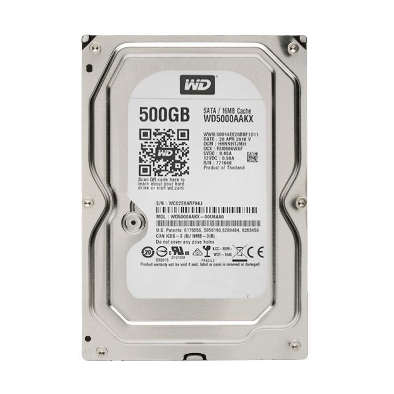 Western Digital Harddisk Internal Desktop [500GB/5400 RPM/SATA III/64MB Cache/3.5 Inch]