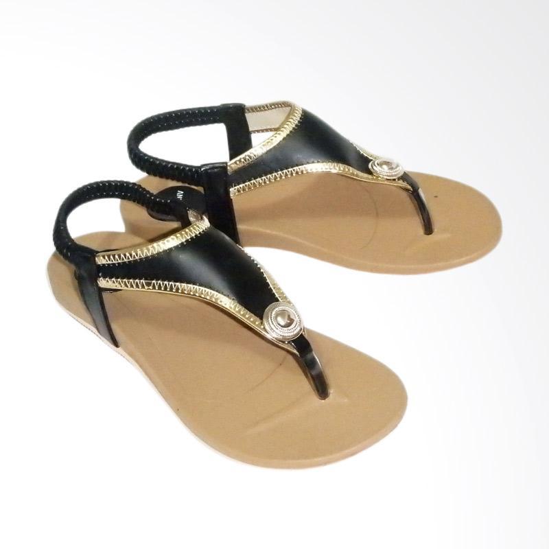 Anneliese ai 01 Sandal Flat Wanita - Black