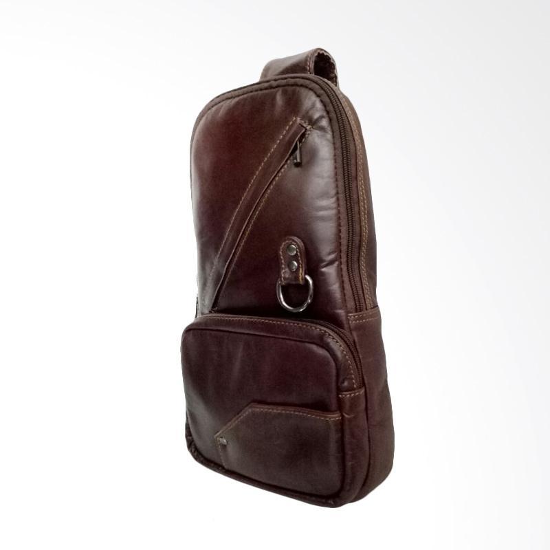 Hunter Design Kulit Tas Selempang - Dark Brown [0118]