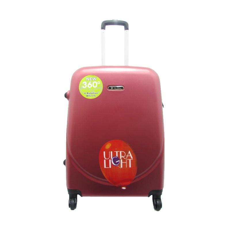 Polo Milano 28106 Hard Case Cabin Sized Koper - Red [20 Inch]