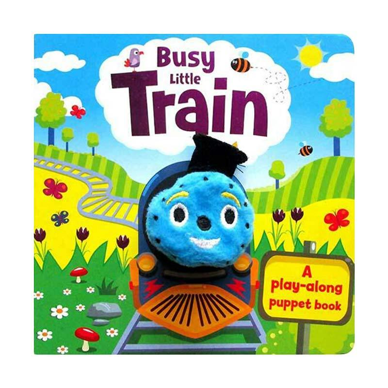 Genius Busy Little Train Board Book with Finger Puppet Buku Edukasi Anak