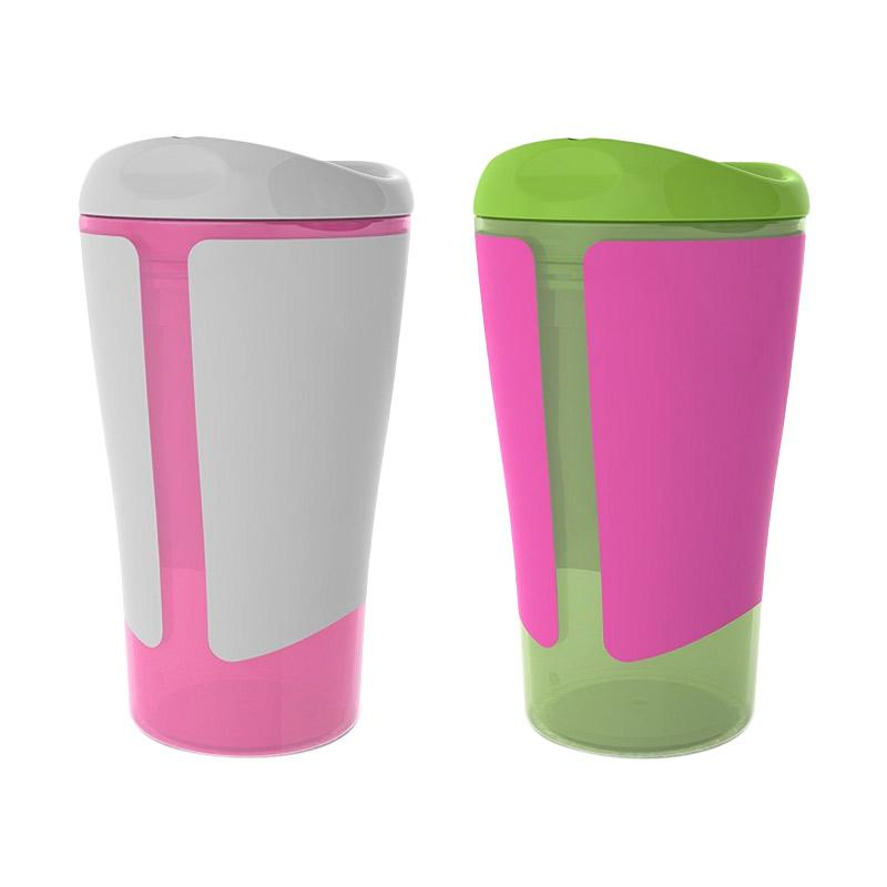 Born Free Grow With Me Straw Cup - Green White [300 mL]