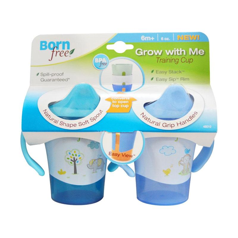 Born Free Animal Grow with Me Training Cup - Blue [180 mL]